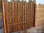 Забор из пиломатериала