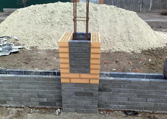 Изготовление бетонных опор с опалубкой