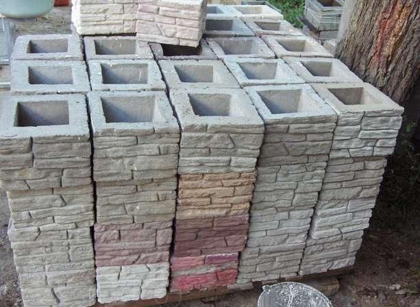 Декоративный бетонный блок