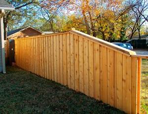 Недорогой забор из обрезной доски