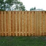 Недорогой забор из древесины