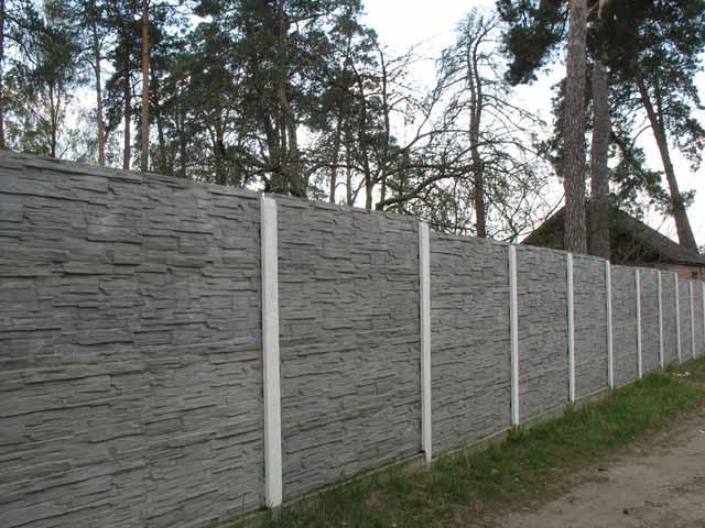 Недорогое бетонное ограждение
