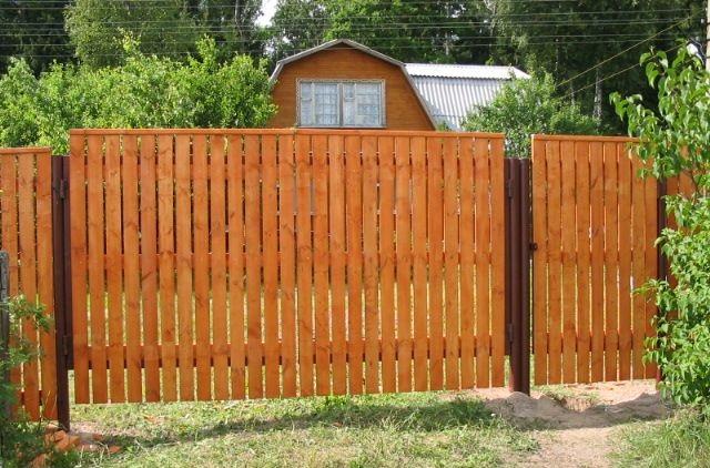 Дешевый забор из штакета