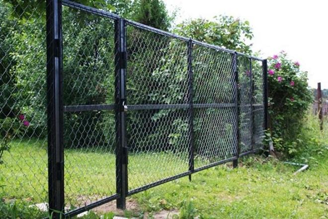 Калитка и ворота из сетки