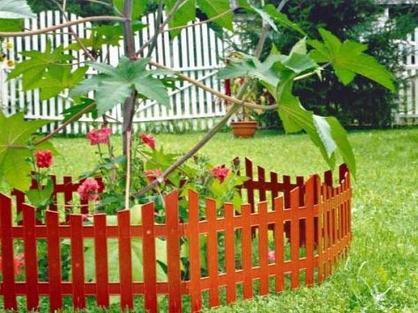 Забор на клумбу своими руками