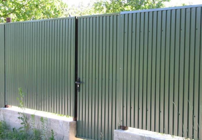 Ограда из пронастила
