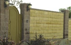 Ограда из бессера