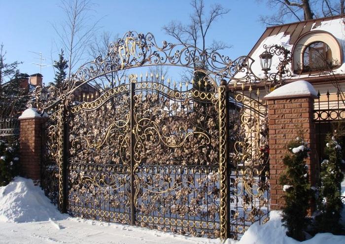 Как сделать кованые ворота своими руками фото