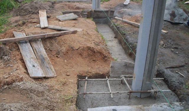 Результат бетонирования