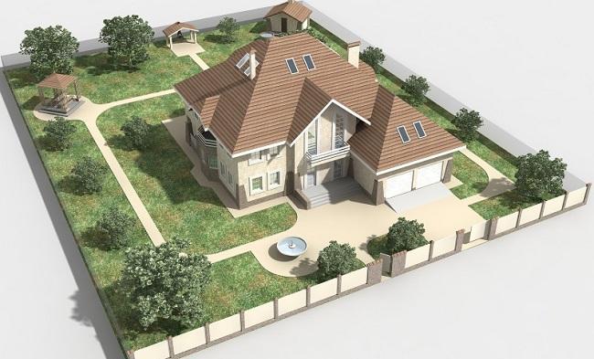 План возведения дачного дома и забора