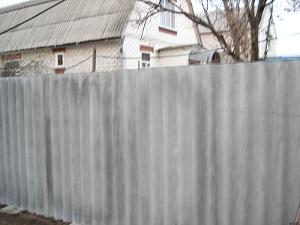 Ограда из шифера