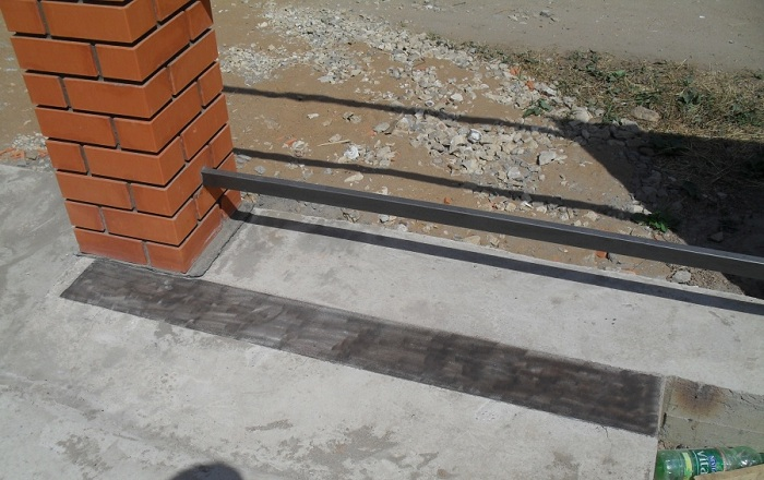 фундамент ворот