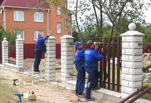 бетонная основа столба