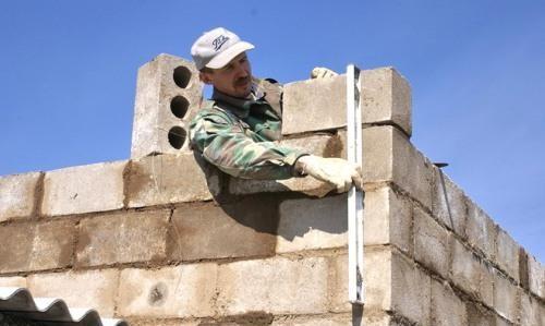 кладка ограды