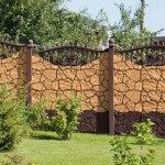 изгородь на даче